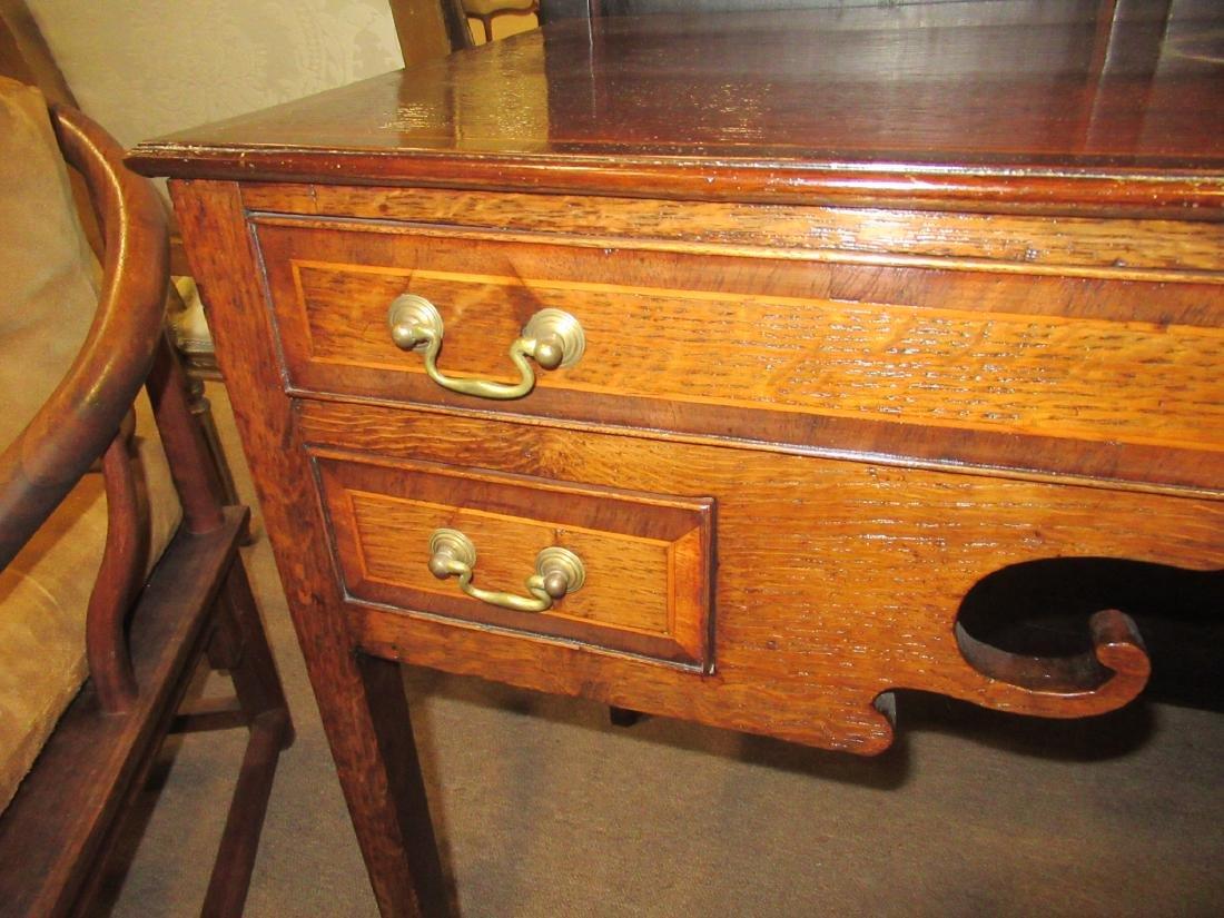 George III-Style Inlaid Oak Lowboy - 5