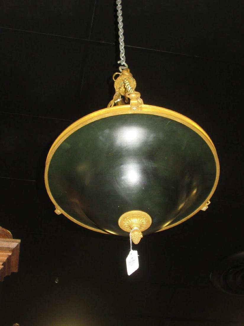Empire-Style Gilt and Patinated Bronze Chandelier - 5