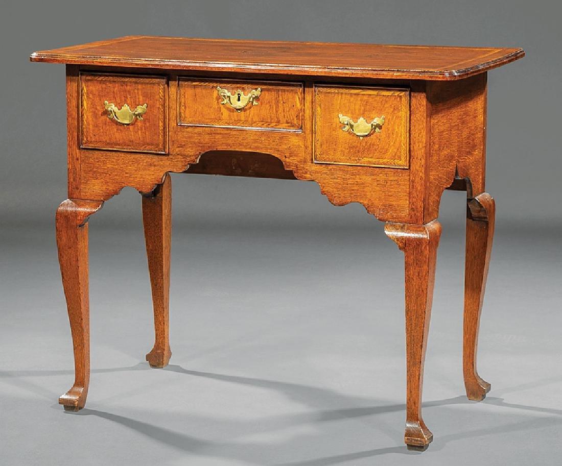 George I-Style Inlaid Oak Lowboy
