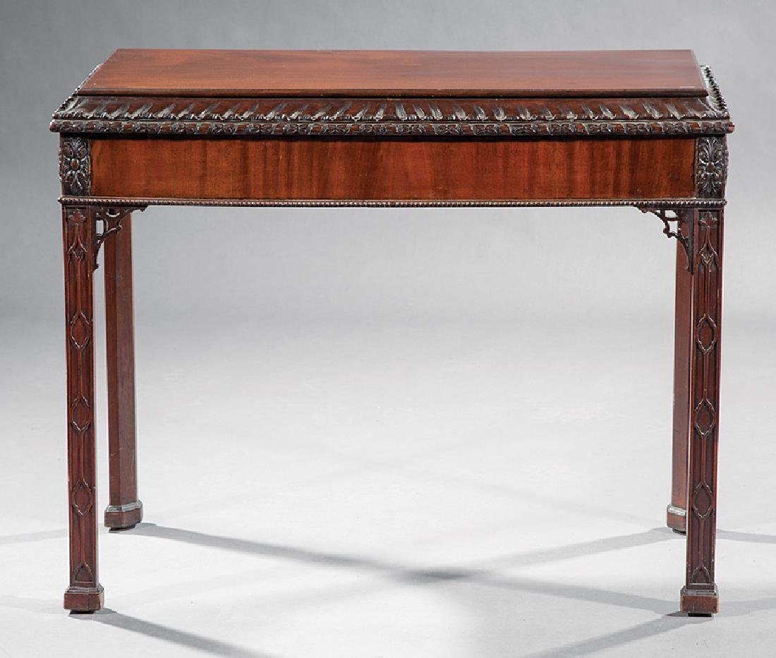 Chippendale-Style Carved Mahogany Console Table - 2