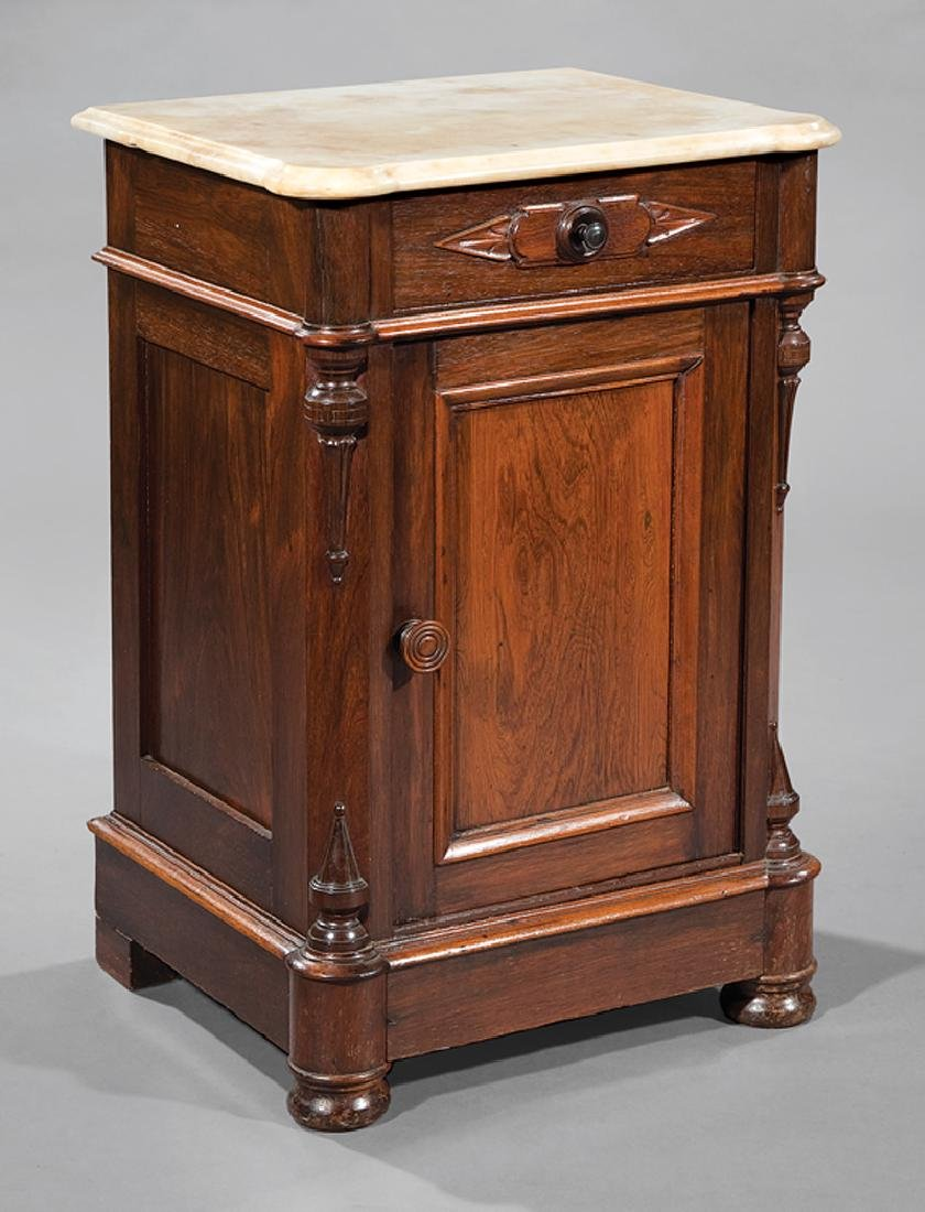 American Renaissance Carved Rosewood Bedside Commode