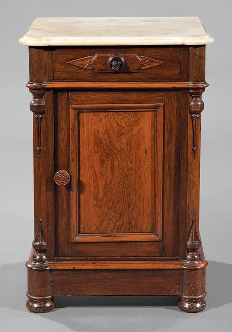American Renaissance Carved Rosewood Bedside Commode - 2