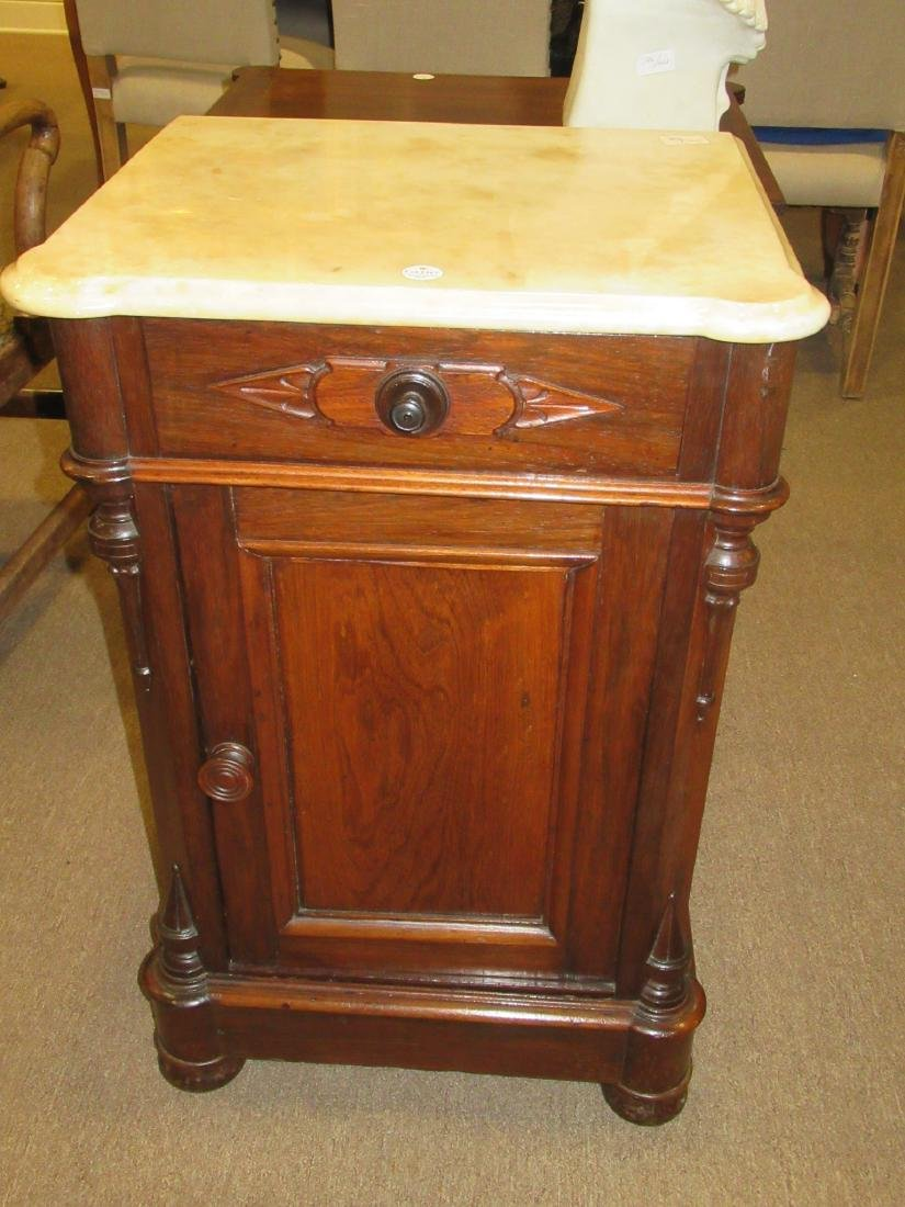 American Renaissance Carved Rosewood Bedside Commode - 3