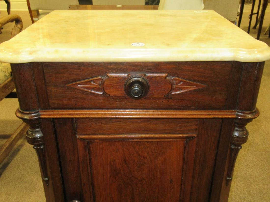 American Renaissance Carved Rosewood Bedside Commode - 5