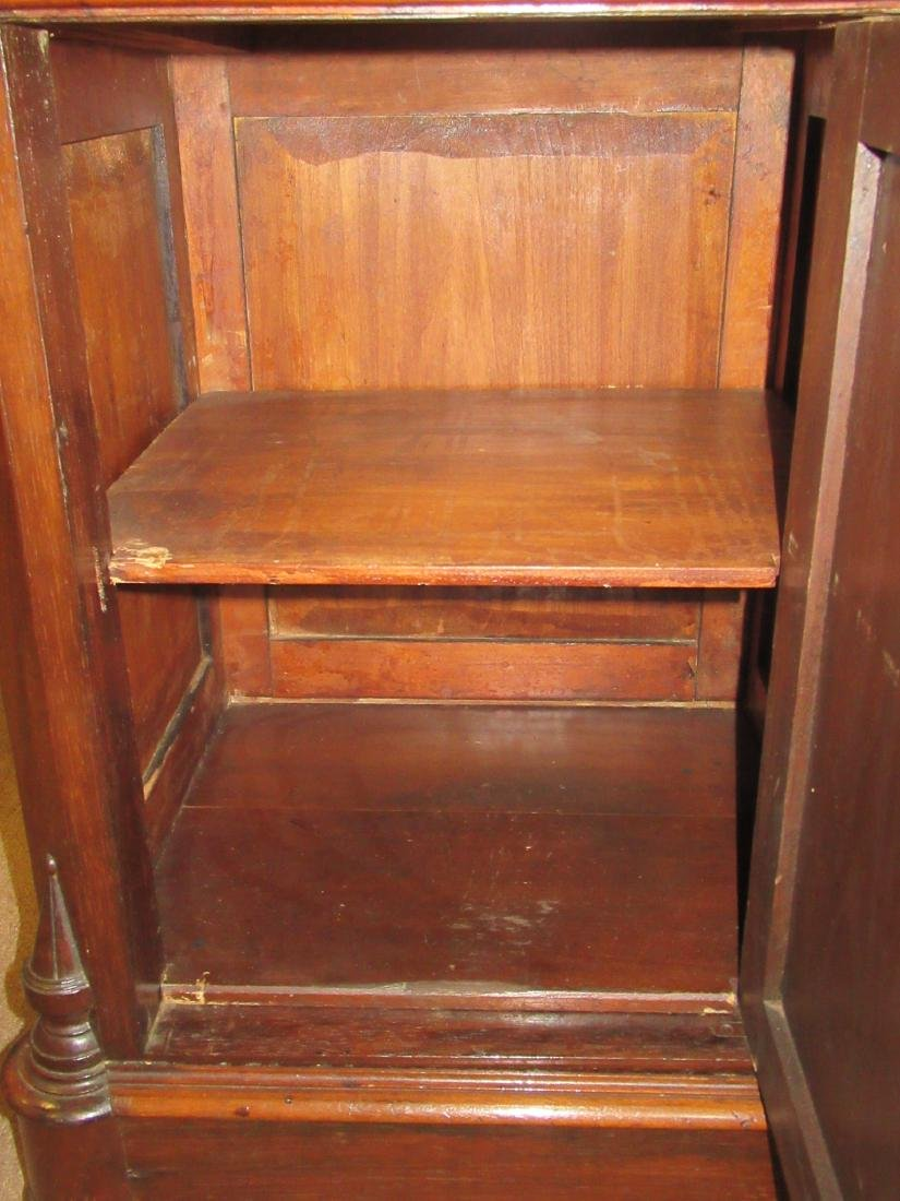 American Renaissance Carved Rosewood Bedside Commode - 7