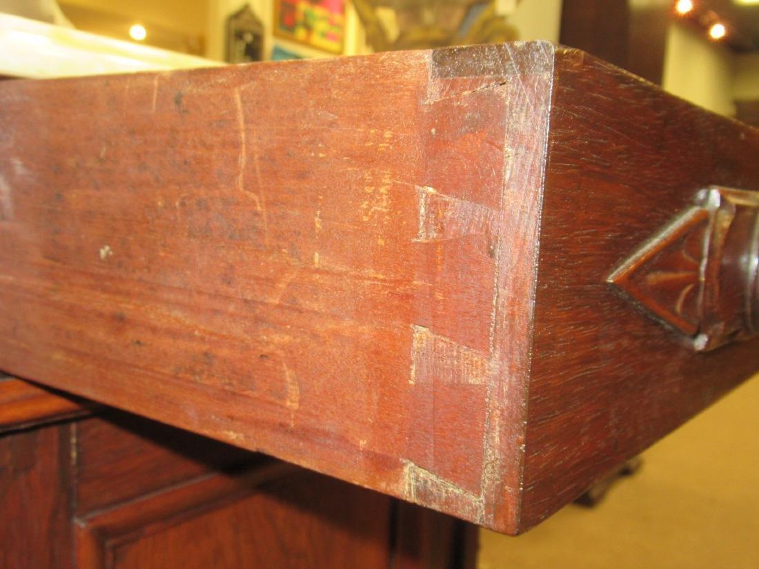 American Renaissance Carved Rosewood Bedside Commode - 8