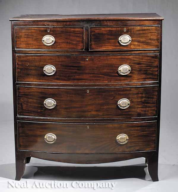 5: George III-Style Mahogany Bow-Front Chest