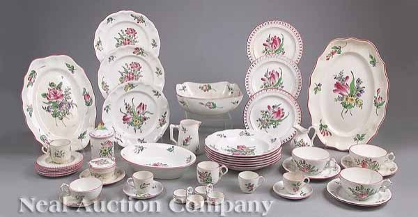13: French Faience Dinner Service, Keller & Guerin
