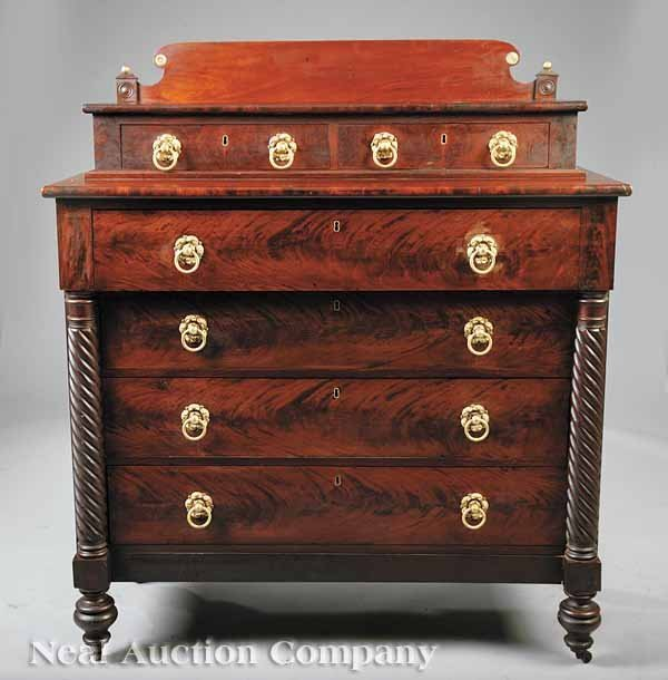 23: Late Classical Mahogany Gentleman's Chest