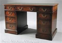 108 RegencyStyle Mahogany Kneehole Desk