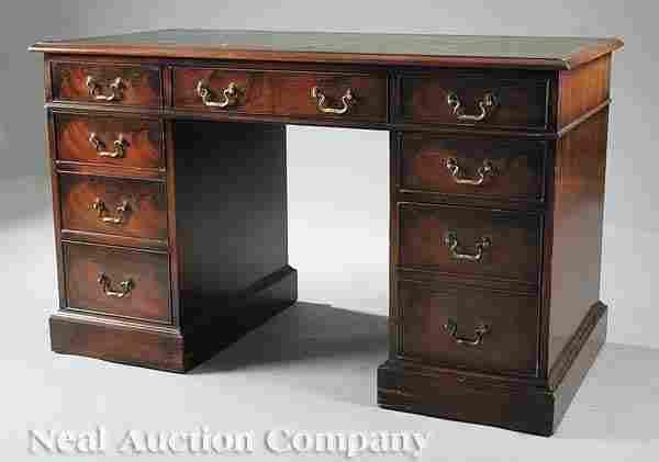 108: Regency-Style Mahogany Kneehole Desk