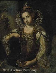 0433: Continental late 17th/early 18th c, oil on canvas