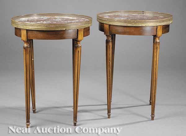 0622: Pair of Louis XVI-Style Bouillotte Tables