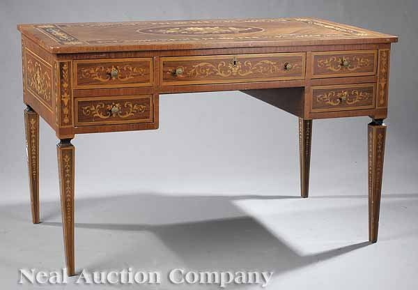 0637: Neo-Classical Marquetry Desk