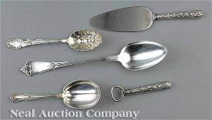 0652 Group of American Sterling Silver Serving Pieces