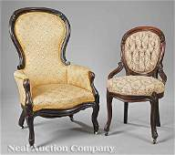 0834: Group of American Victorian Parlor Chairs