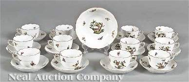 1002 Herend Porcelain Demitasse Cups and Saucers