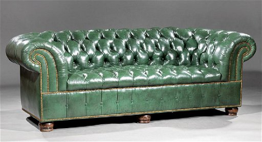 Groovy Vintage Green Leather Chesterfield Sofa Gmtry Best Dining Table And Chair Ideas Images Gmtryco