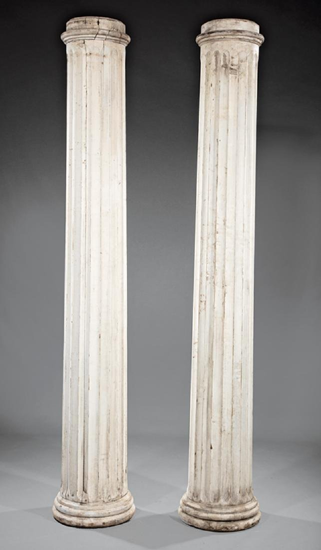Pair of Painted Architectural Columns