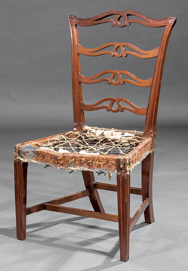 Carved Mahogany Ribbonback Side Chair