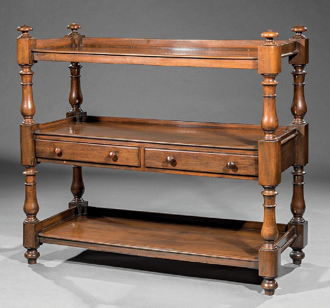 William IV Carved Mahogany Etagere