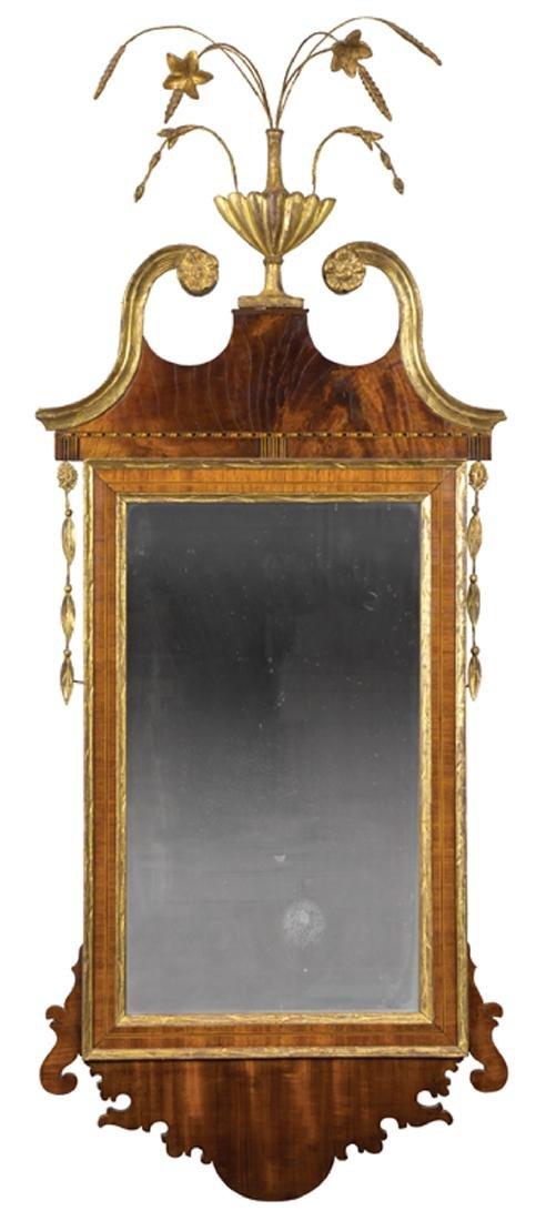 American Federal Gilded Mahogany Mirror