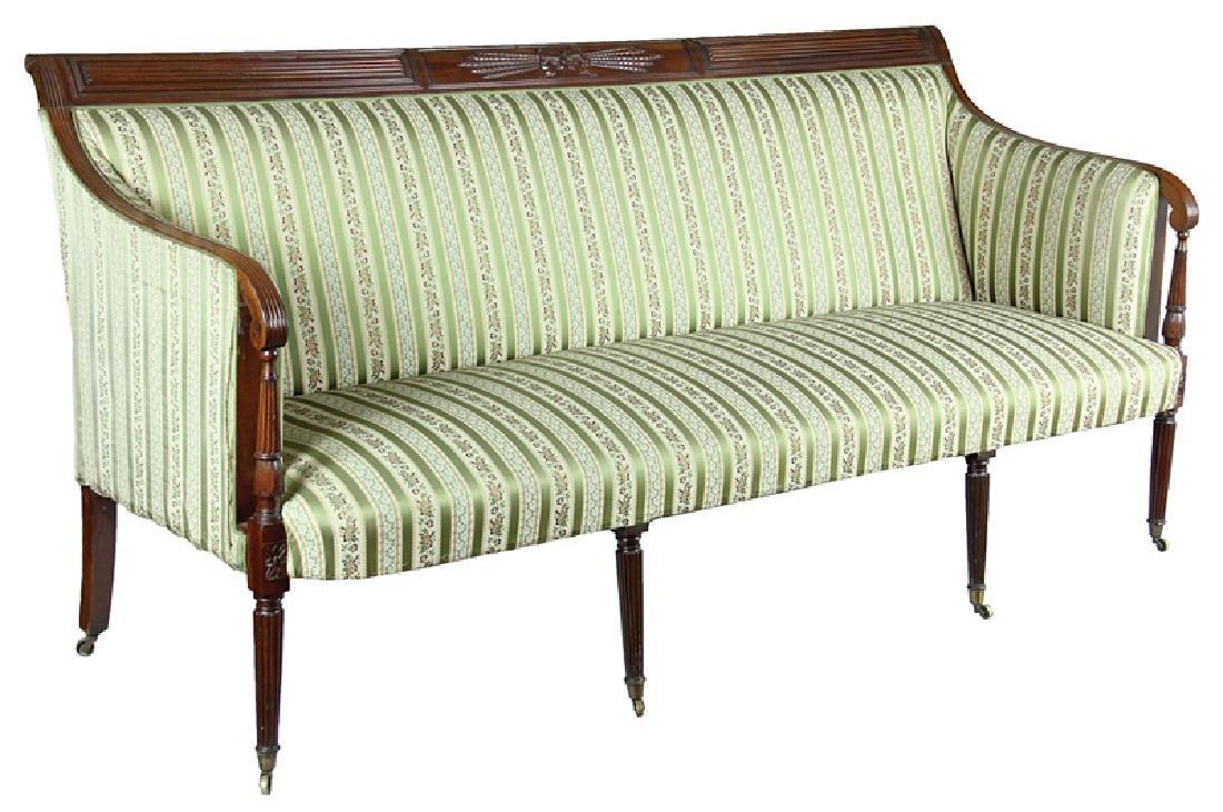 American Federal Carved Mahogany Sofa
