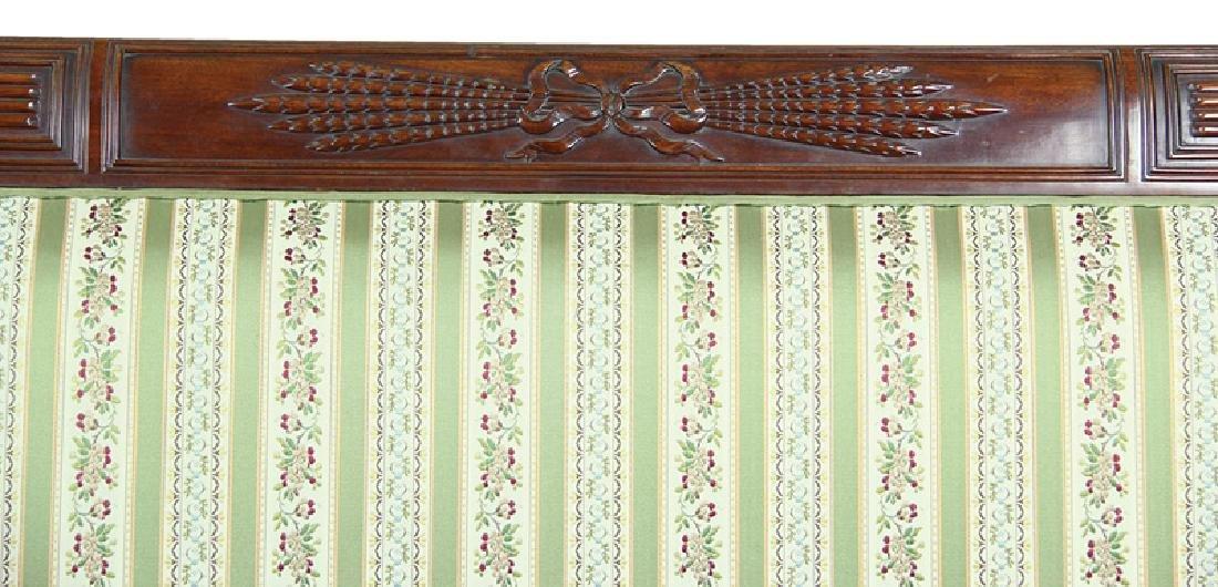 American Federal Carved Mahogany Sofa - 3