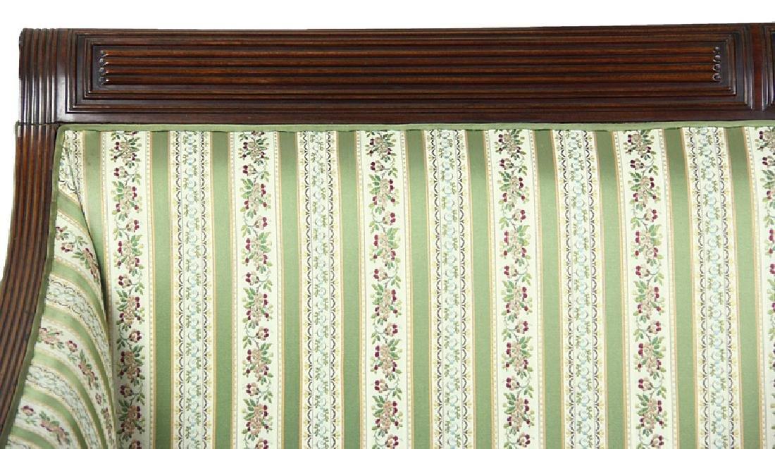 American Federal Carved Mahogany Sofa - 4