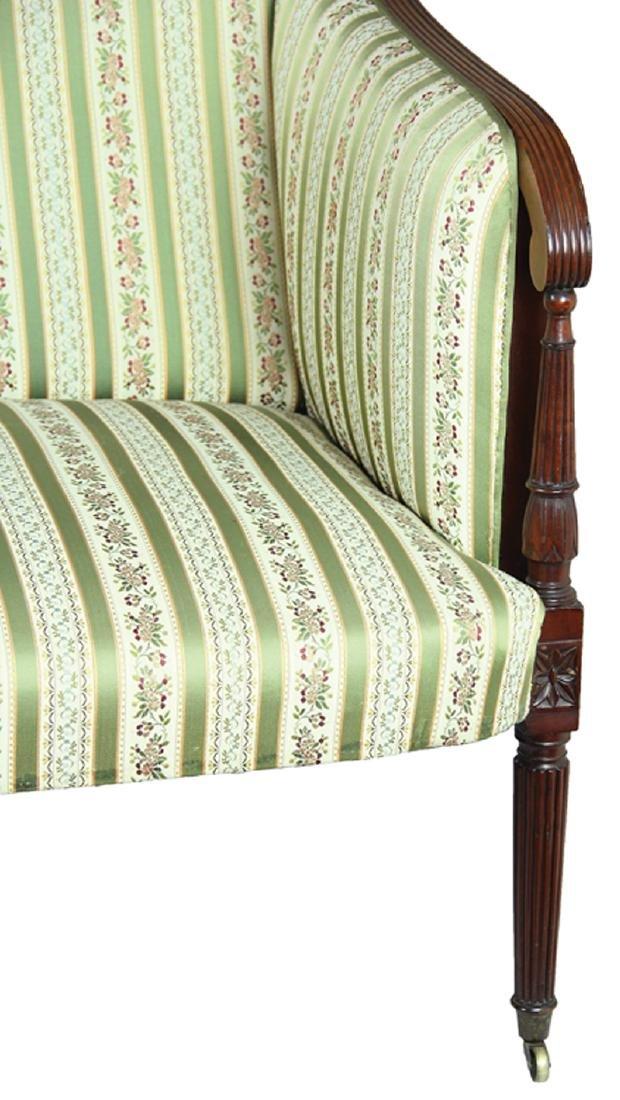 American Federal Carved Mahogany Sofa - 5