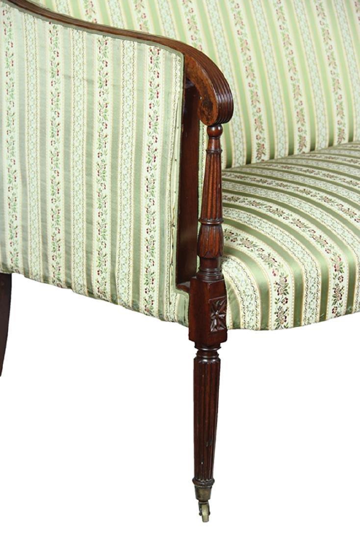 American Federal Carved Mahogany Sofa - 6