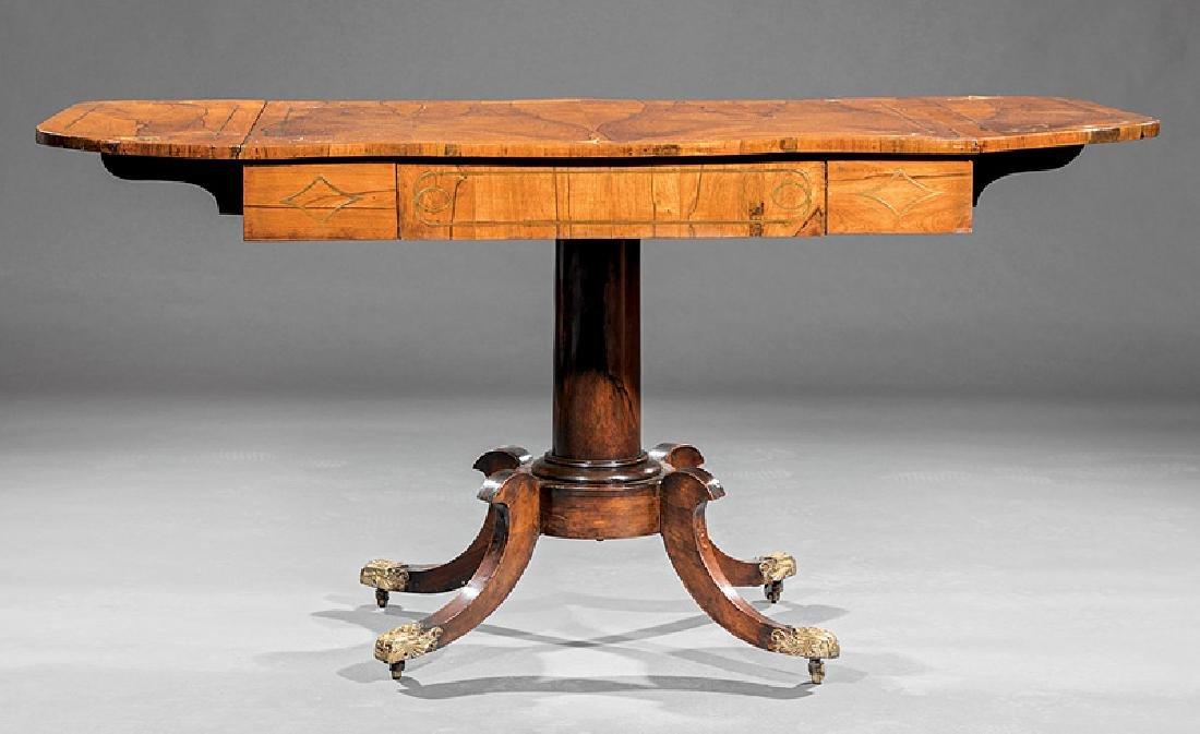 Regency Brass Inlaid Rosewood Sofa Table - 3