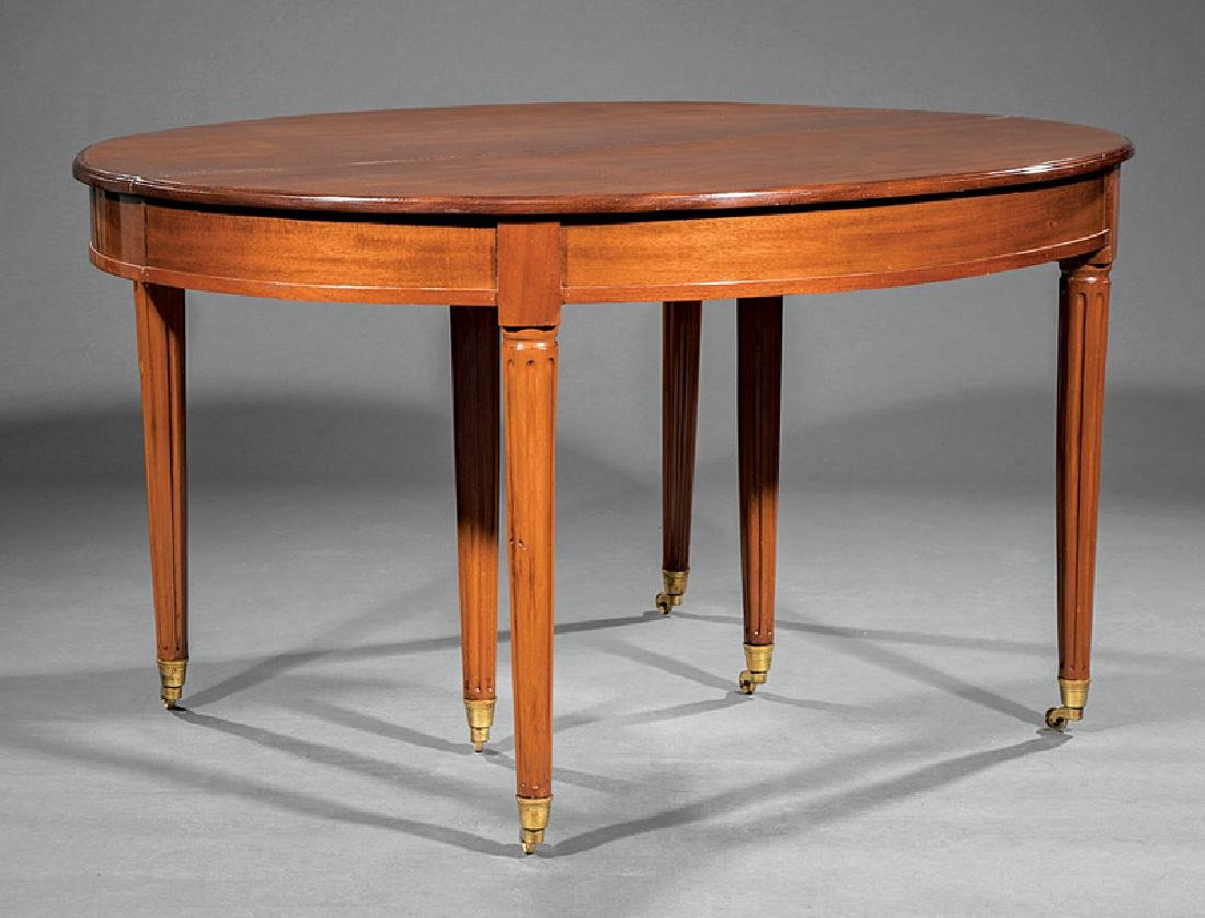 Directoire-Style Carved Mahogany Dining Table