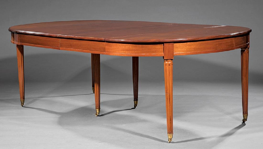 Directoire-Style Carved Mahogany Dining Table - 2