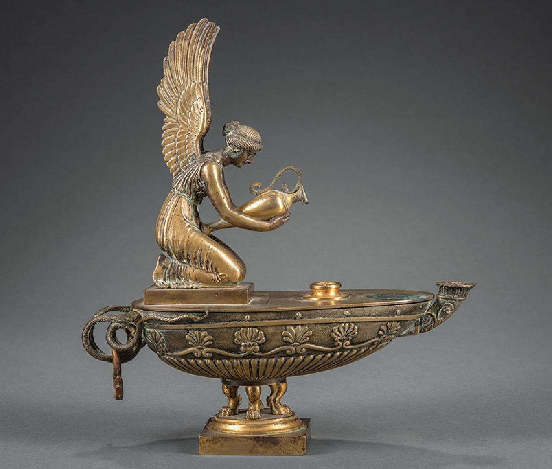 Grand Tour Bronze Oil Lamp