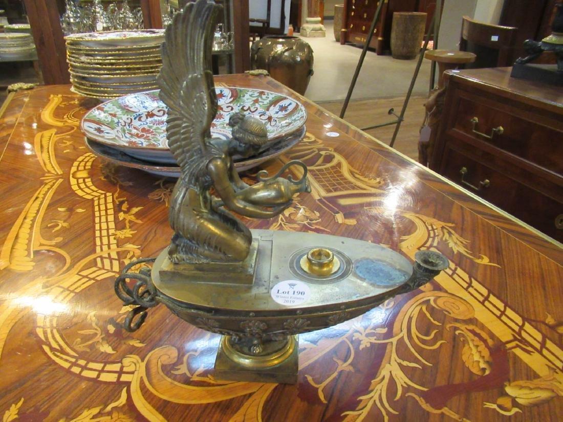 Grand Tour Bronze Oil Lamp - 2