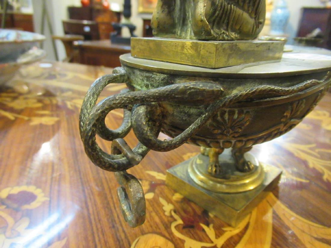 Grand Tour Bronze Oil Lamp - 6