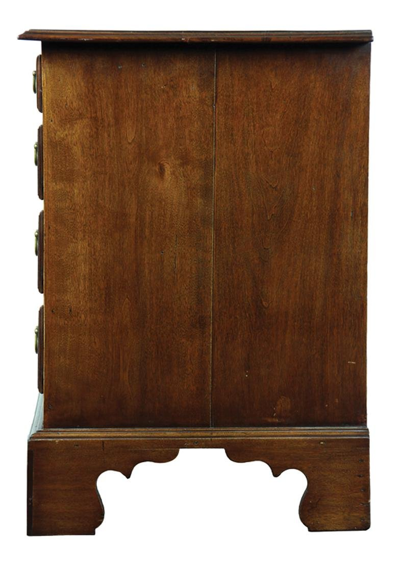 American Chippendale Birch Low Chest - 4