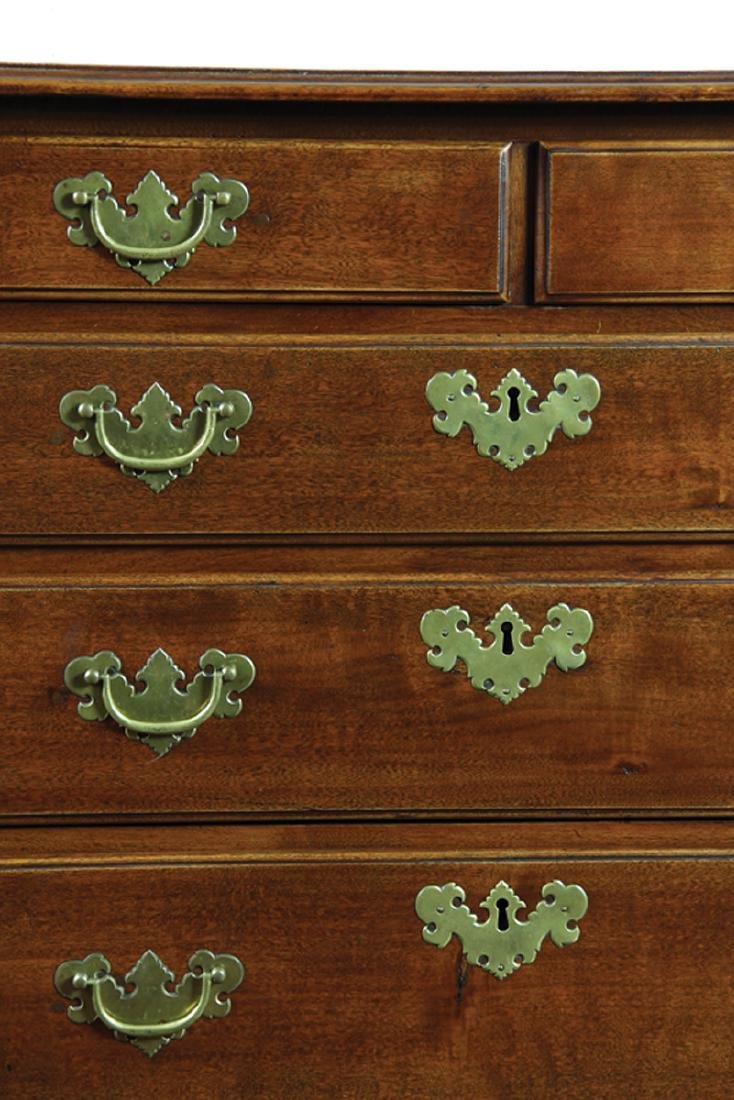 American Chippendale Birch Low Chest - 5