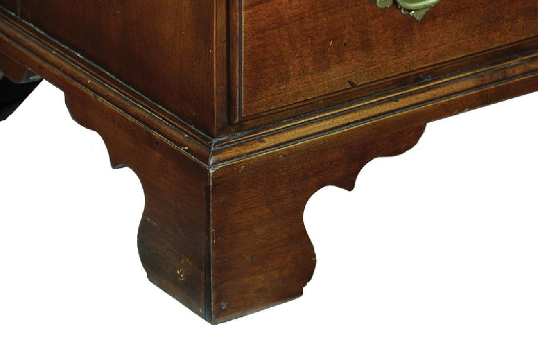 American Chippendale Birch Low Chest - 6