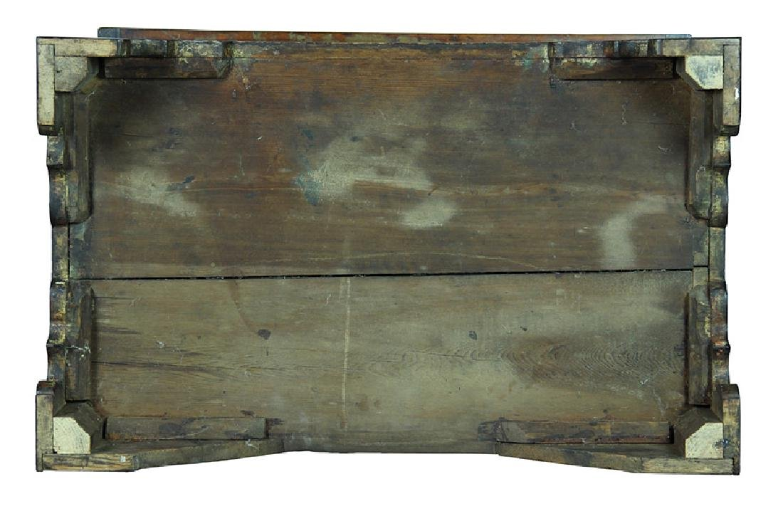 American Chippendale Birch Low Chest - 8