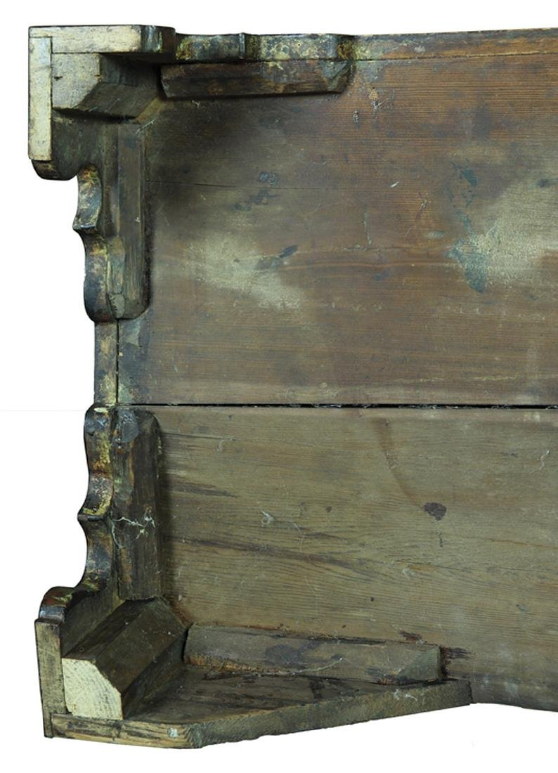 American Chippendale Birch Low Chest - 9