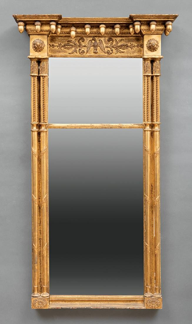 American Late Federal Carved and Gilded Mirror