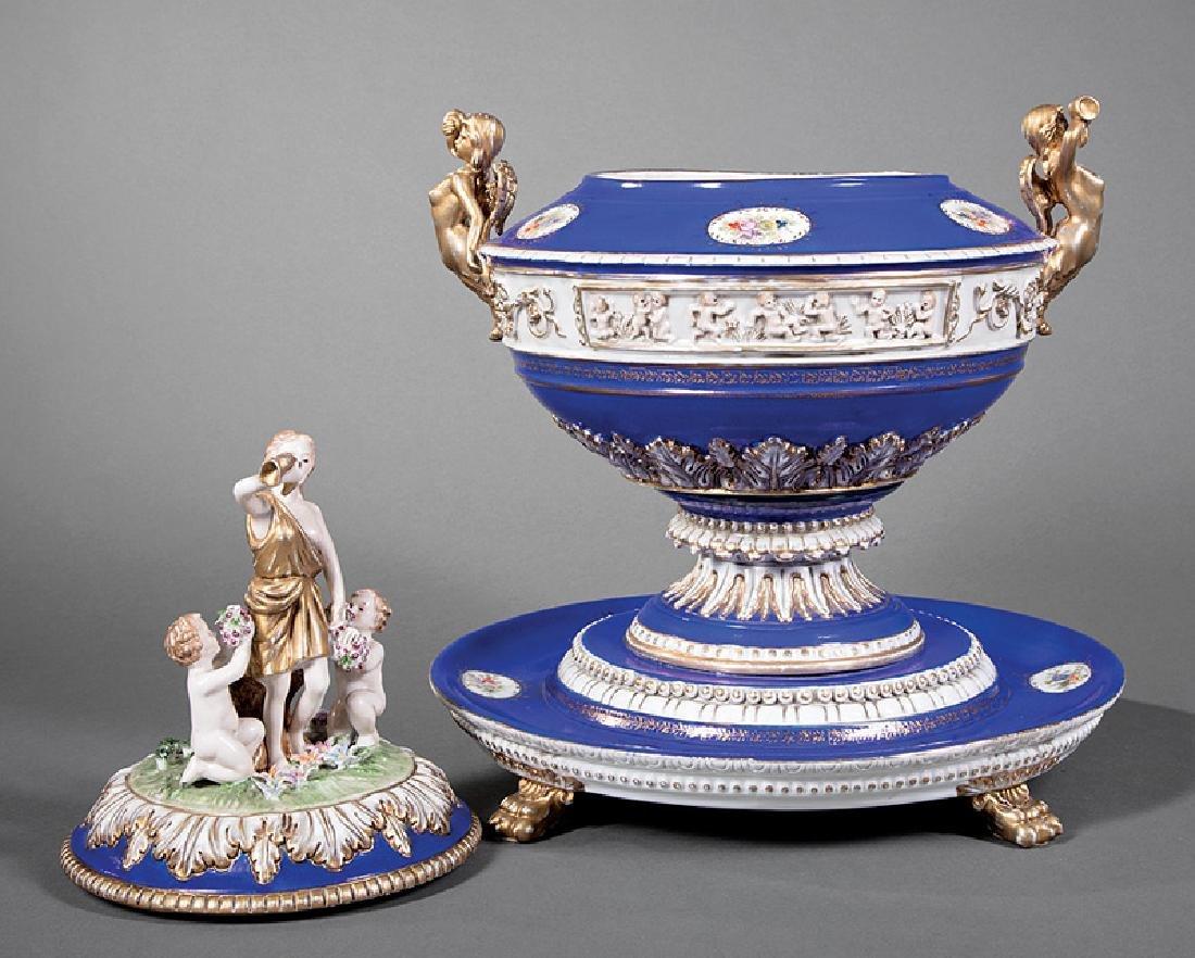 Dresden Porcelain Tureen - 2