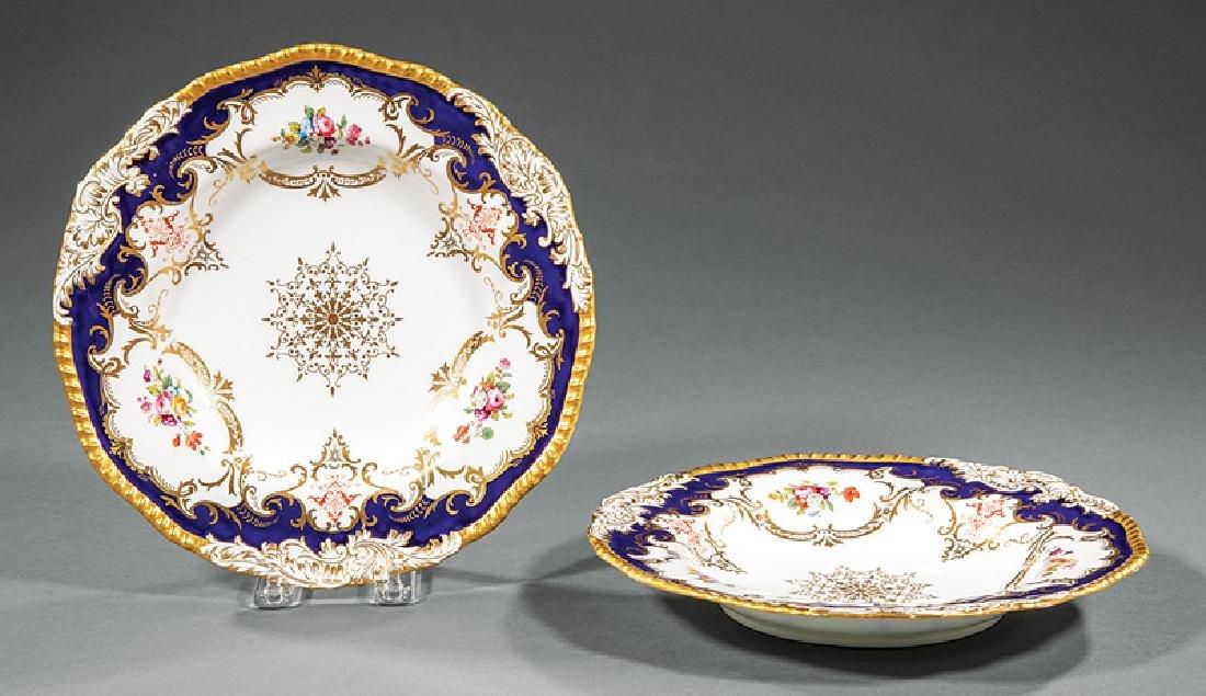 Set of Twelve Coalport Porcelain Soup Plates