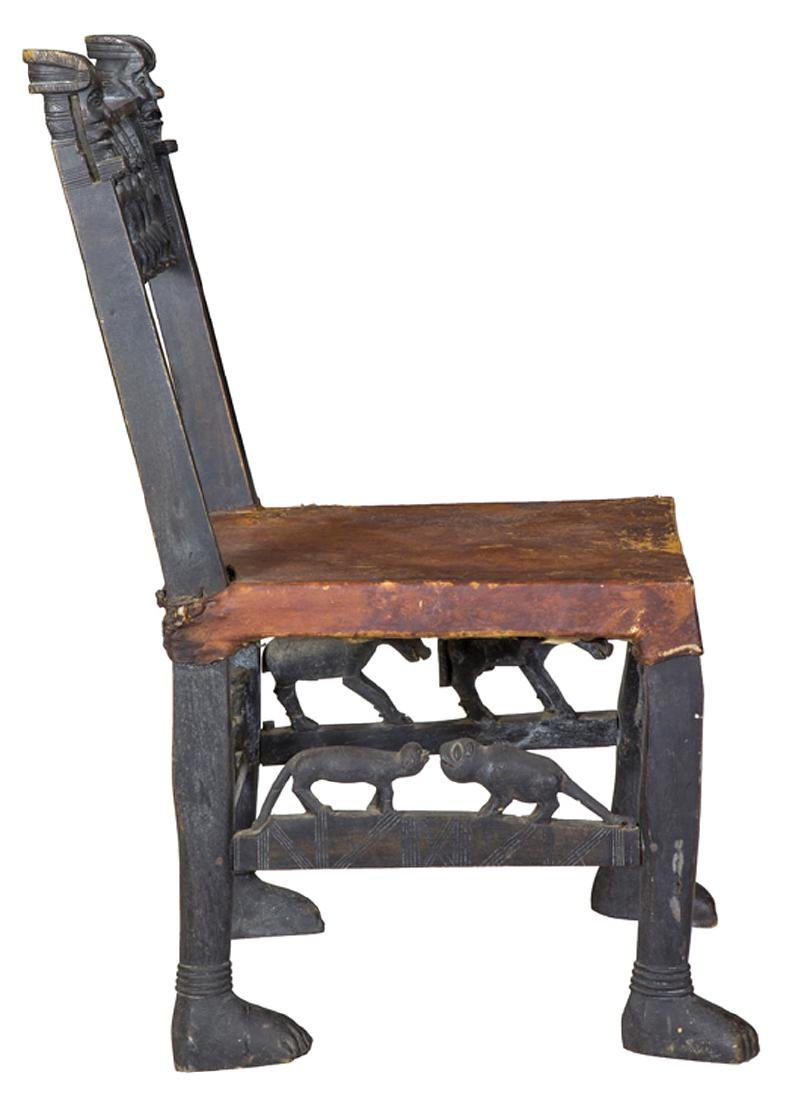 African Carved Figural Chair - 3