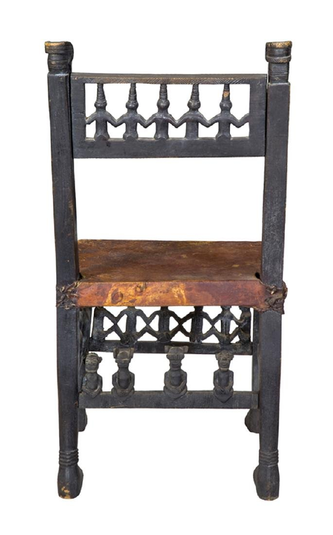 African Carved Figural Chair - 4