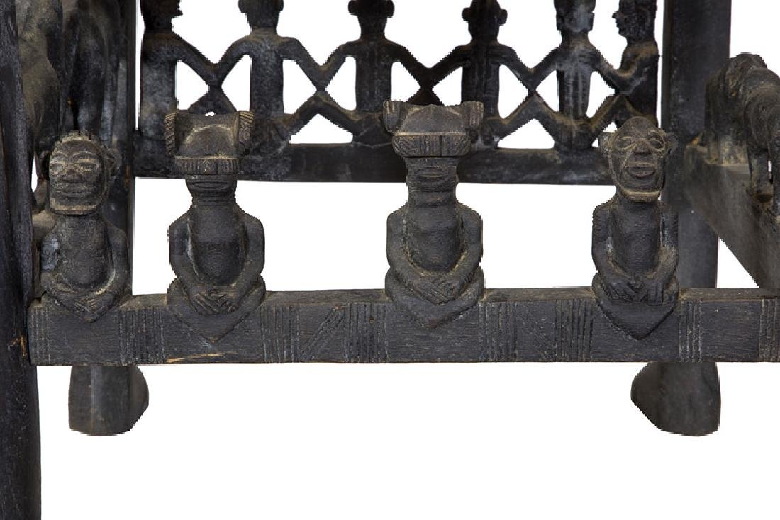 African Carved Figural Chair - 8