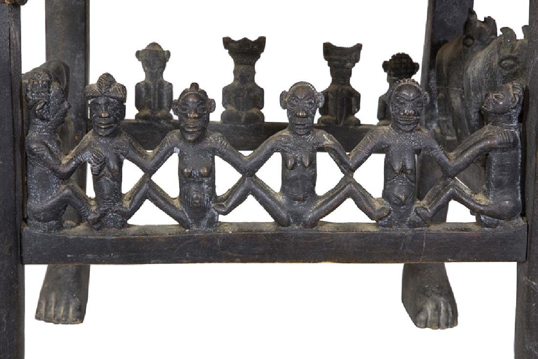 African Carved Figural Chair - 9