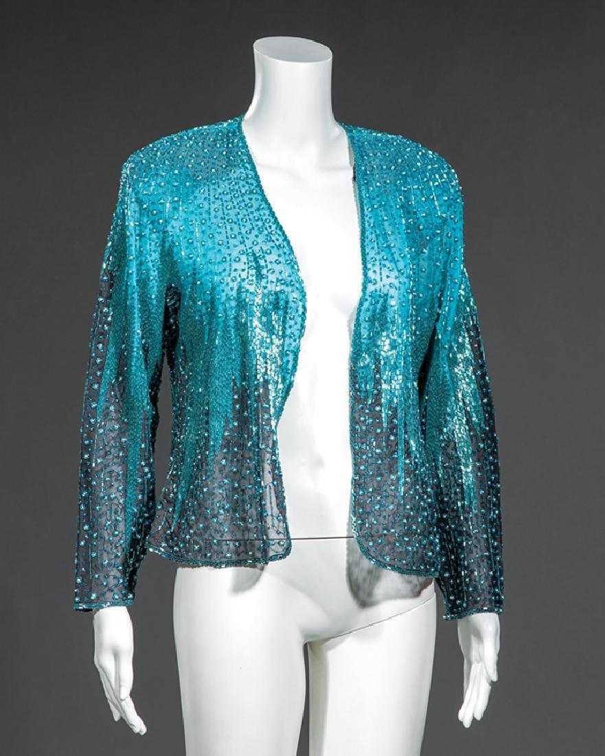 Halston Beaded Evening Jacket, Oleg Cassini Dress